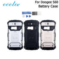 ocolor For Doogee S60 S60 Lite Battery Case Colorful Bateria Back Case Cover Fit Replacement For Doogee S60 Mobile Phone +Tools