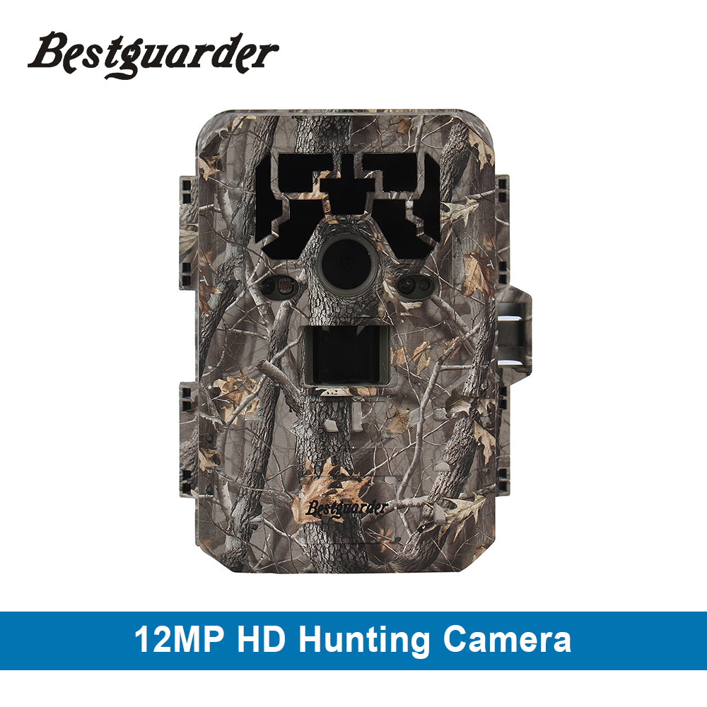 Bestguarder 12mp Wild Camera HD 1080P Game Scouting IR Hunting gps camcorder Wireless 75ft LCD Night Camera Chasse Infrared Cam 12mp hd 1080p black ir game hunting scouting camera ip66 super long detection range up to 75ft 2 0 lcd ir game hunter cam