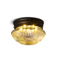 American Iron Round Ceiling Light North European Retro Glass Aisle Corridor Led Ceiling Lamp Decor Living Room Lighting Fixture