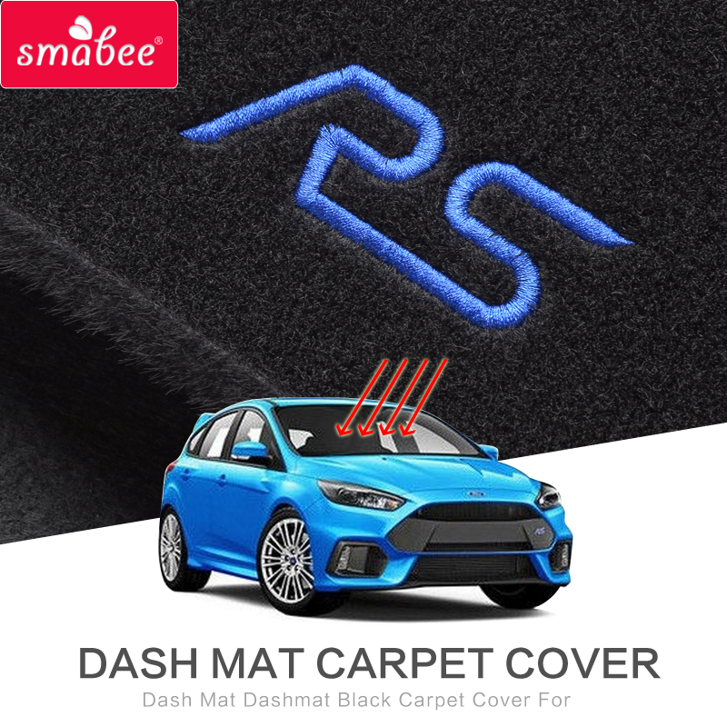 For Ford Focus RS Dashboard Protective Mat Shade Interior Refit Anti-Slip Mats 2015 2016 2017 LHD RHD Accessories Car Styling for suzuki vitara right hand drive dashboard mat protective pad black red car styling interior refit sticker mat products