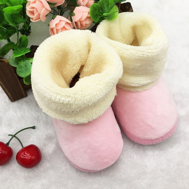 Newborn Baby Super Warm Snow Boots Toddler Girl Boys Infant Autumn Winter Solid Cotton Shoes