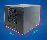 4 disks NAS chassis home mini network storage home video server hot plug chassis