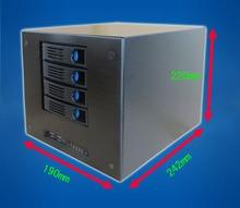 4 дисков NAS шасси, главная/мини/Сеть/хранения/home/видео/server/Hot Plug Шасси