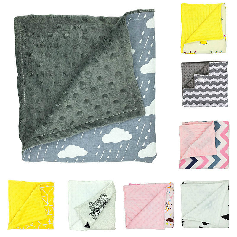 bebes blanket manta Fashion Minky Blanket bedding baby covers blankets newborn swaddle tree cloud crown pattern bebek battaniye