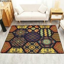 Stylish modern geometric paysota estilo étnico carpet salón sofá mesa de café dormitorio alfombra estera de noche corto