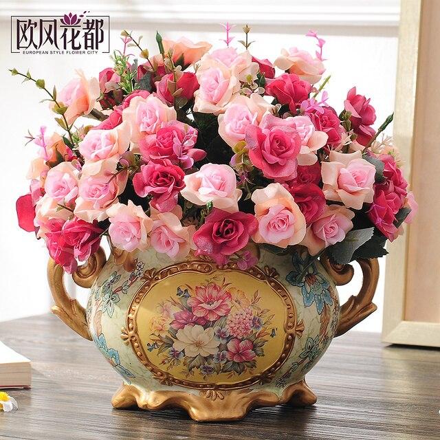 style living room table decoration Juan flower table ceramic vase ...