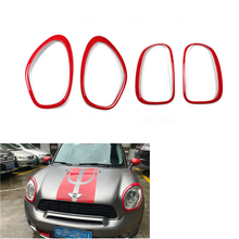 For MINI Countryman R60 Accessories Car Headlight Front Head Tail Rear Lamp Light Sticker Rings Cooper