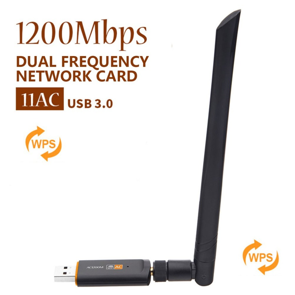 AC 1200Mbps Wireless WiFi USB Adapter Dual Band 2 4 5Ghz with Aerial 802 11AC Network