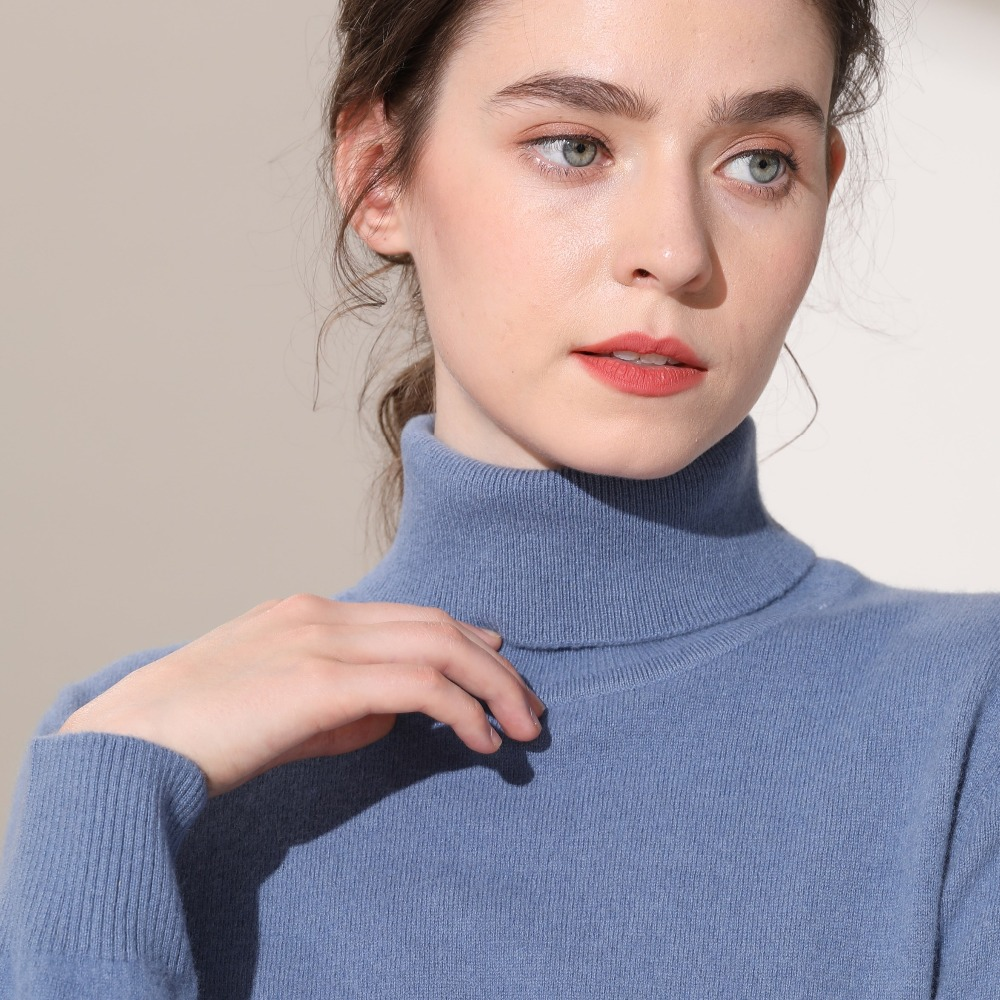 ZEHANGSEA high collar women sweater and pullovers Spring and Autumn women long sleeved sweaters  Comfortable simple Knitted clot