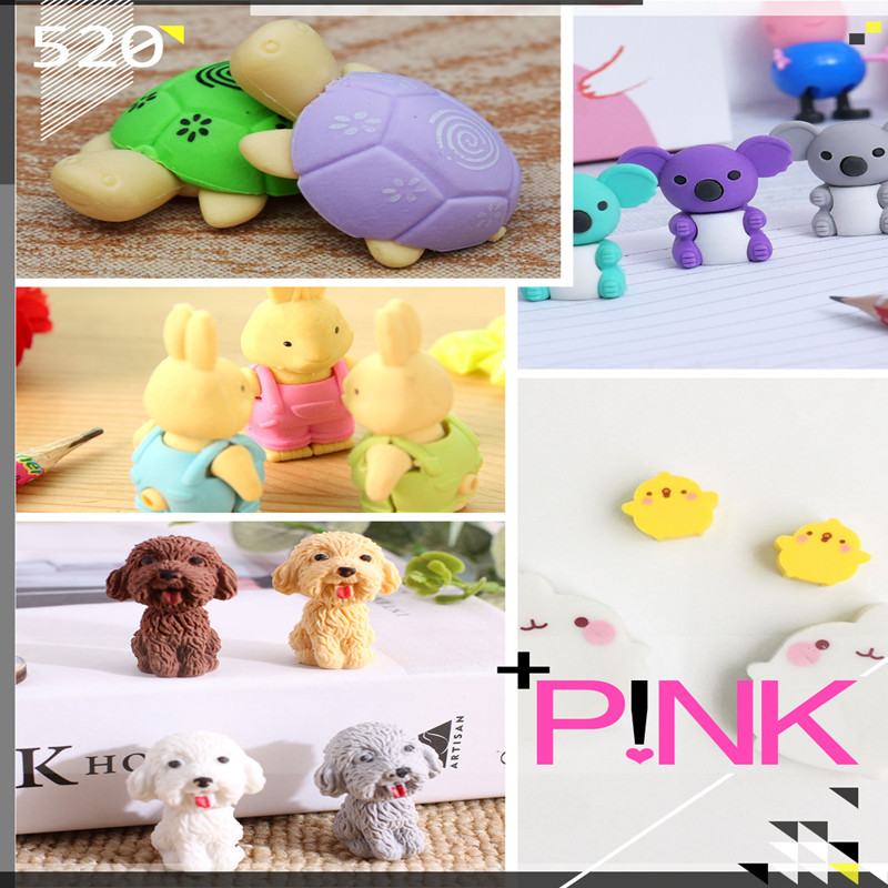 Limit Shows Available Cartoon Cute Animal  Rubber Eraser  School Supplies Office Stationery Novelty Pencil Correction Supplies