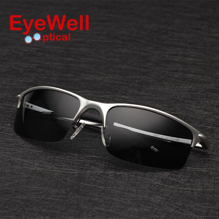 Fashion Aluminum Magnesium Men Polarized Happy Freedom Sunglasses Anti Reflective UV400 Driving Sunglasse Top Quality8581
