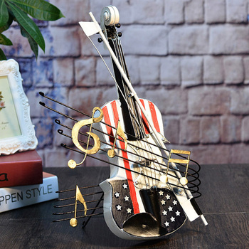 Retro Violin Model Creative Home Ornament Decoration Souvenir HG99