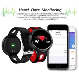 Image 2 - Binssee الرياضة ساعة رقمية أندرويد Ios جهاز تعقب للياقة البدنية ضغط الدم معدل ضربات القلب المقتفي الرجال معصمه النساء متعدد اللغات ساعة