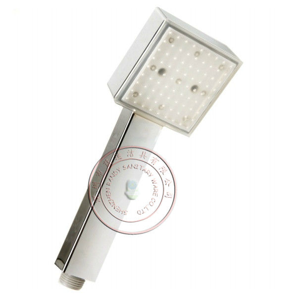 square led shower head with RGB color+single blue color+colorful shower free shipping