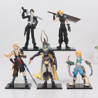 Final Fantasy 5pcs Set Cloud Strife Squall Leonhart Tidus Warrior Of Light Zack Fair PVC Figures