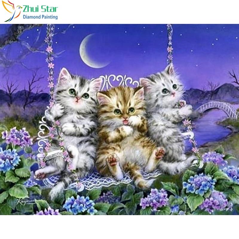 Днем, мерцающая открытка котята