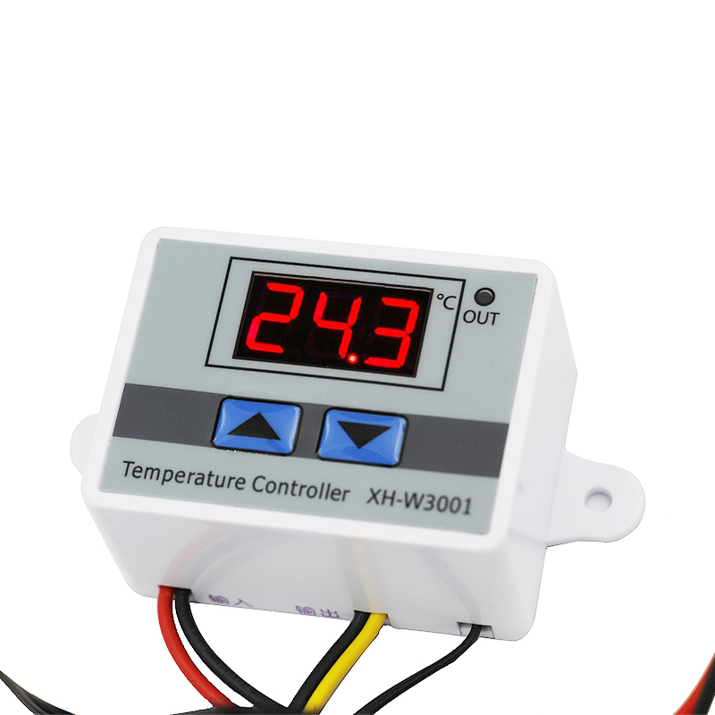 W3001 Digital LED 220v temperature thermometer thermo controller with probe heat cool temp thermostat control switch