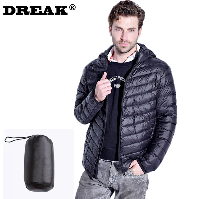 Aliexpress.com : Buy DREAK Men's long sleeved down jacket thin big ...