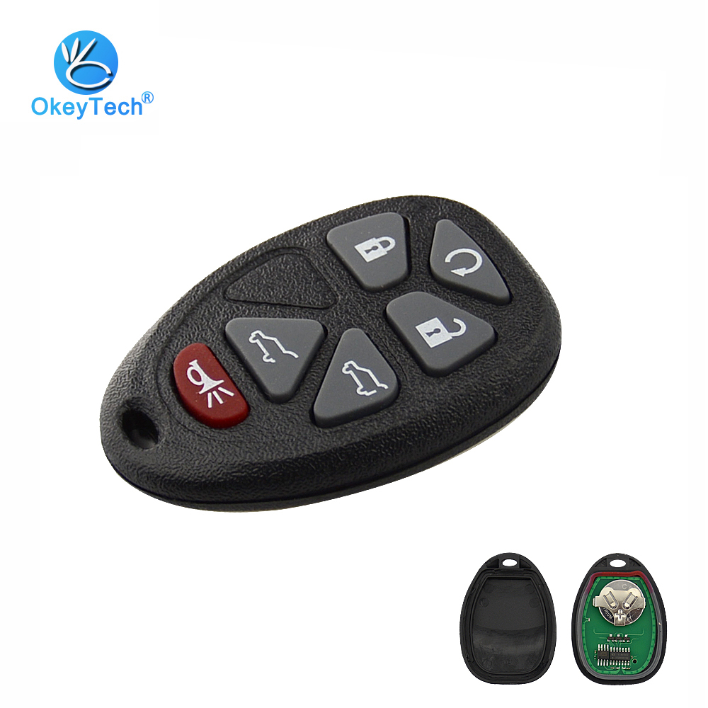 OkeyTech For Chevrolet Avalanche Cadillac Escalade 315MHZ Car Key 6 Buttons For Chevrolet Buick Remote Control FCC ID OUC60270