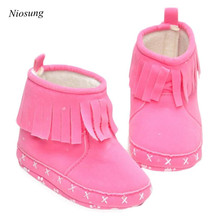 Niosung New Baby Snow Boots Soft Crib Shoes Toddler Snow Boots Girls Boys Warm Winter Snow Boots 4 Colors v