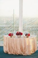 Free Shipping 9ft 108 Inch 275cm Round Peach Sequin Tablecloth Shimmer Peach Round Tablecloth For Wedding/Party/Banquet R