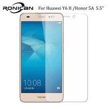 9H temperli CAM Huawei Y6II Y6 ii 2 CAM L03 CAM L21 CAM L23 5.5 inç ekran koruyucu onur 5A kam l21 L23 koruyucu film