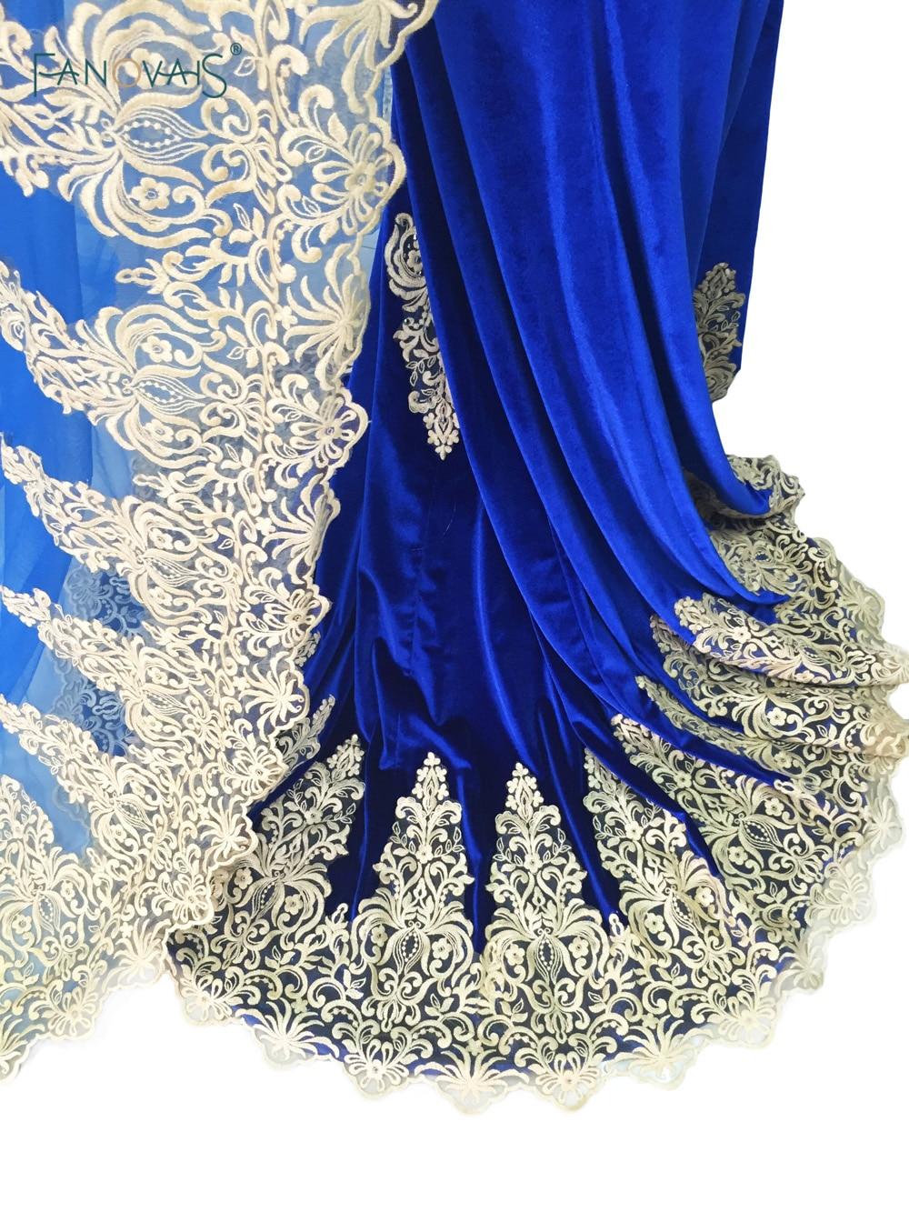 Vintage koningsblauw avondjurken Lange mouw zeemeermin galajurken met - Jurken voor bijzondere gelegenheden - Foto 6