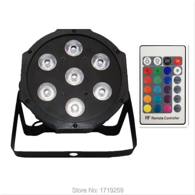 ФОТО 6 pcs/lot Wireless remote control Free shipping LED SlimPar 7x9W RGB 3IN1 LED DJ Wash Light Stage Uplighting No Noise