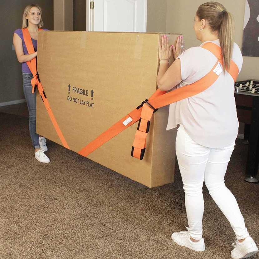 Cinturón de transporte pesado muebles correas de elevación móviles correa de cuerda de transporte Material de nailon muñeca para transporte de muebles