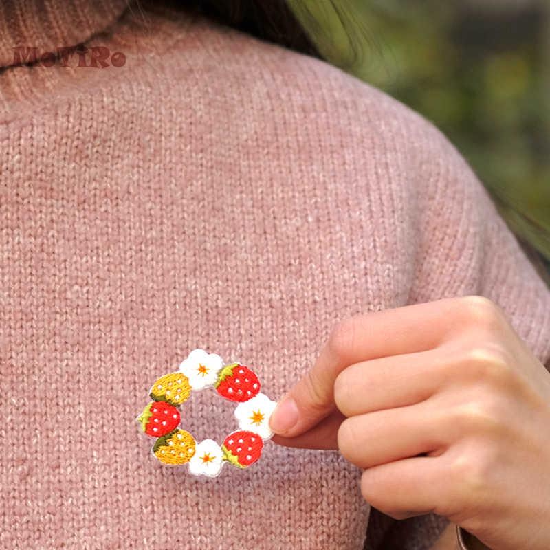 MoTiRo, 1 шт., 4*4 см патч наклейки, вышивка с изображением клубники аппликация поставки гладить на Швейные куртка/джинсы/платье/рубашка/свитер