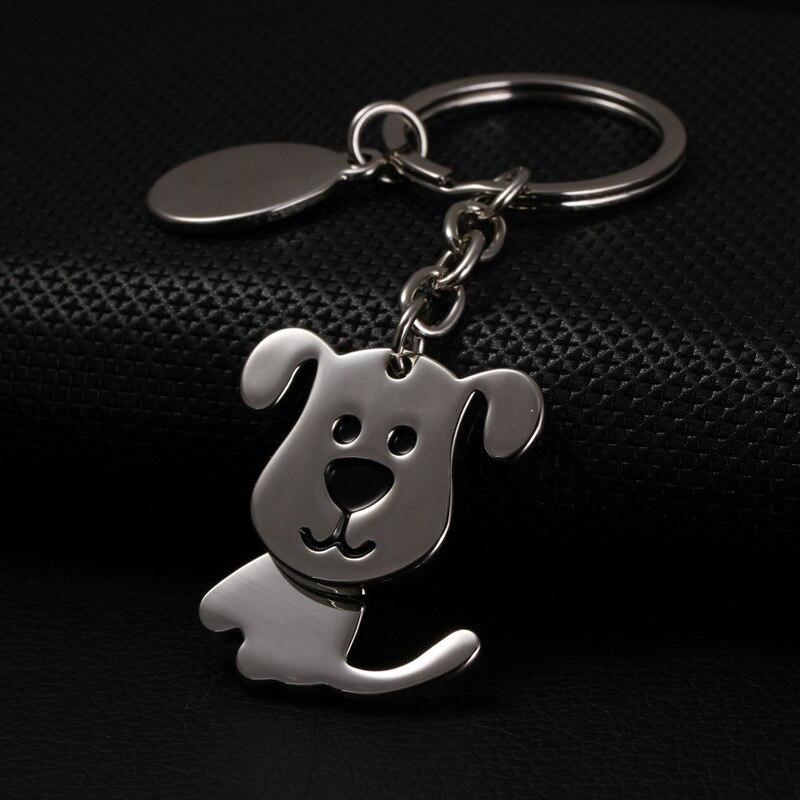 dog keychain cute key ring for women puppy key chain key holder high quality portachiavi chaveiro