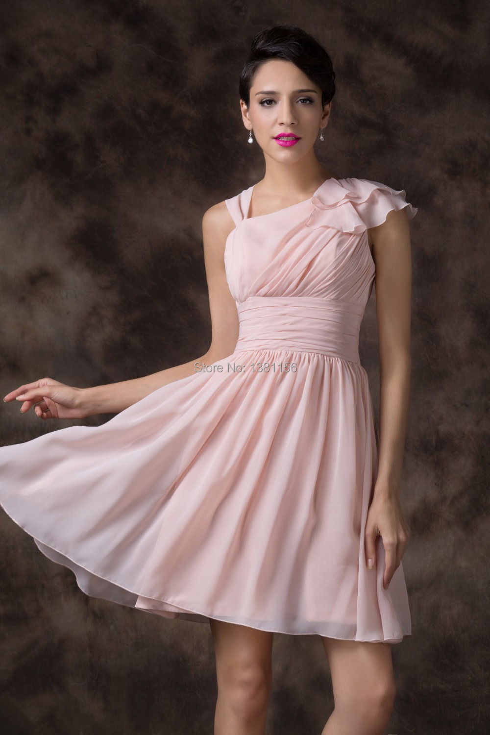 f833c4128e3 Grace Karin Sexy Short Formal Prom Dress Light Pink Chiffon Cocktail Party  Dress Women Sleeveless Summer Dress CL6221