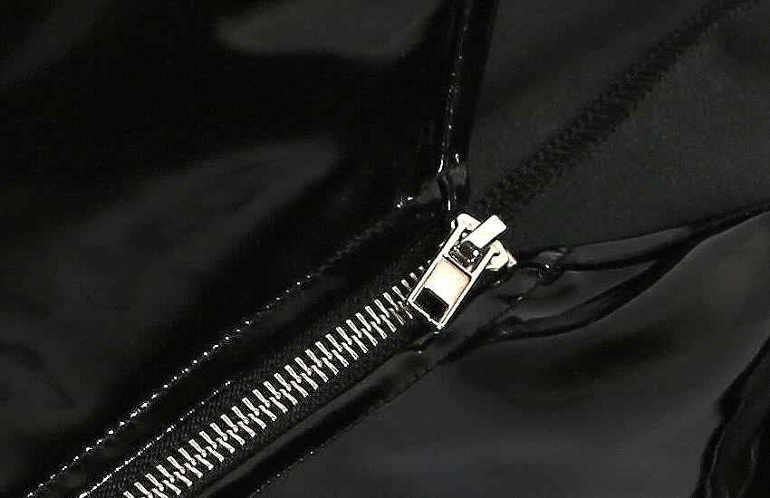 Sexy Women Punk Deep V Neck High Cut PVC Shiny Bodysuit Faux Leather Latex Matt Catsuit Sexy Pole Dance Stage Wear Plus Size F43