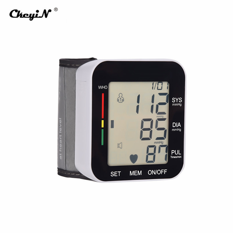 Gesundheitsversorgung Unparteiisch Automatische Digitale Lcd Display Handgelenk Blutdruck Monitor Herzschlag Rate Pulse Meter Tonometer Blutdruckmessgeräte Pulsometer