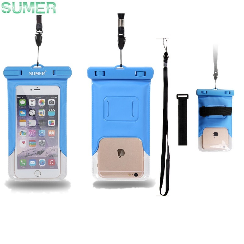 SUMER Co (HK) .,Ltd Waterproof PVC Diving Bags Underwater Pouch phone Case cover for LG G4 G3 Xiaomi Redmi 2 3 note 2 3 HTC one M8 Desire 820 bags