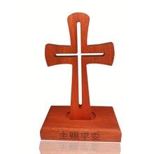 1 шт., Рождественский подарок на день Святого Валентина, твердый деревянный падаук, ручной Магнитный Крест