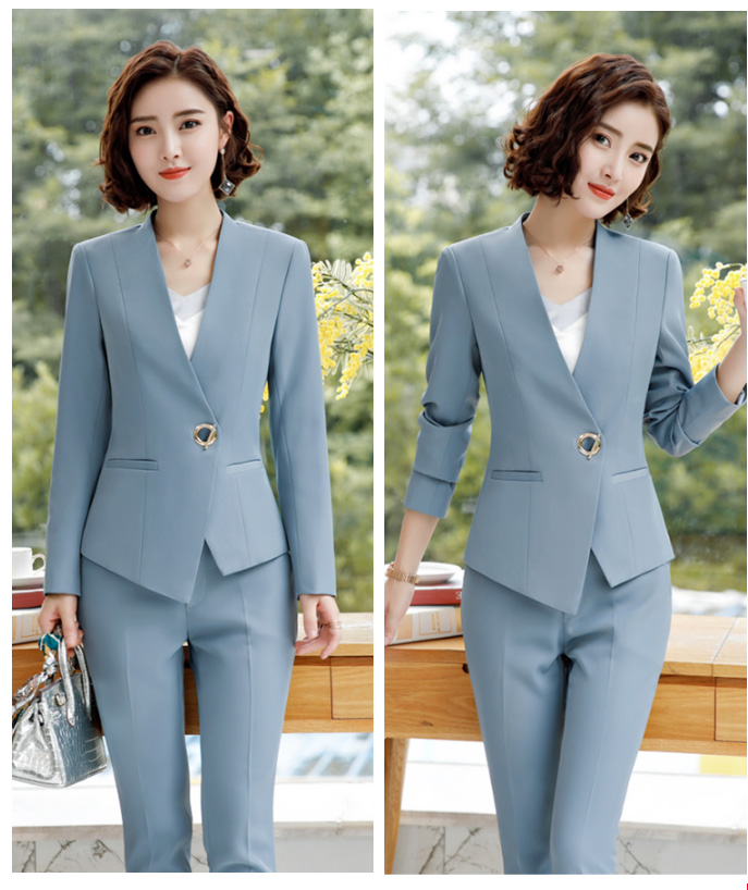 2 Piece Pant Suits Women Office Lady Outfits Business Work Formal Pants Blazer Set Fashion Trousers Jacket Female Coat Clothing-in Pant Suits from Women's Clothing    2