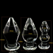 3PCS/lot  Big Crystal Dildo Set Large Glass Anal Plug Female Sex Toy for Men Anal Masturbation Male Gay Sex Products for Couples