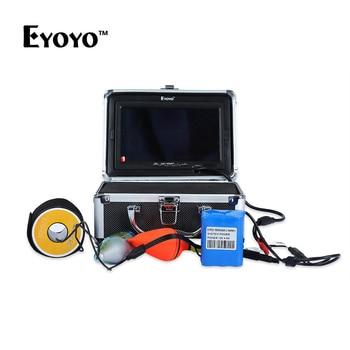 Eyoyo 30M 1000TVL Fish Finder Underwater 7 Fishing Camera Monitor Waterproof FishFinder 12 LEDs with Sun Visor for lake fishing EYOYO