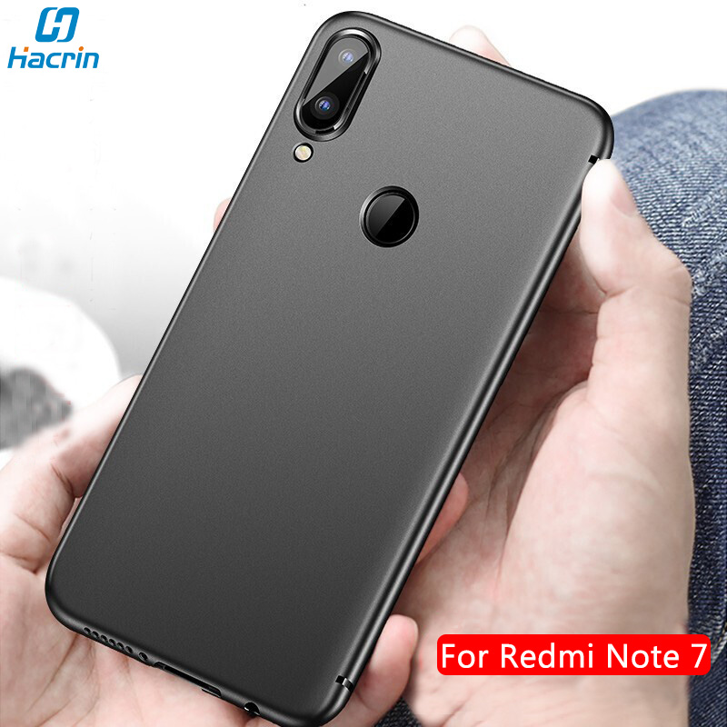 Hacrin Case For Xiaomi Redmi Note 7 Case Soft Silicone Slim Frosted Matte Shockproof Bumper