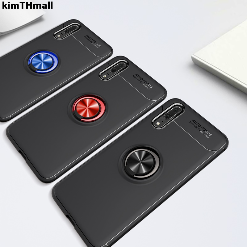 Case For Huawei P20 Back Cover huawei P20 Pro finger ring stand holder magnet Soft phone case For Huawei P20 Pro Case kimTHmall