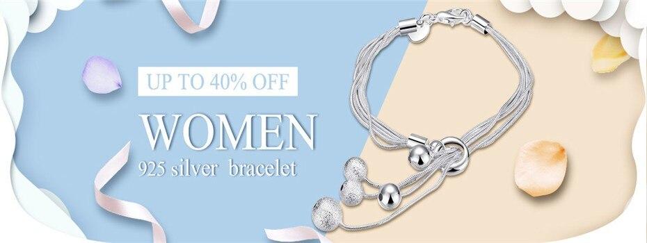 Fashion 925 Sterling Argent Massif Hommes Bijoux 5 mm chaîne Bracelet Pour Femmes H199