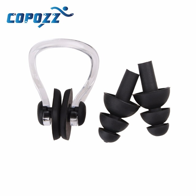 High Quality Soft Swim waterproof Silicone Earplug nose clip set Surf Swimming  Pool Accessories Waterproof adult diving Soft