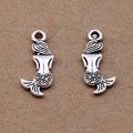 Yage 8*20mm 80pcs Metal Tibetan Silver Mermaid Charms,Alloy Bracelet Charms Pendant For Jewelry Making XBL1517