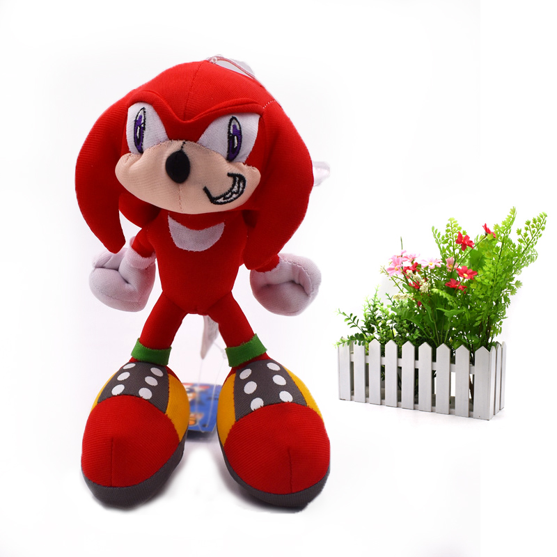 20 cm Red Sonic Soft Doll Toy Cartoon Animal Stuffed Peluche Plush Toys Figure Dolls Christmas Gift For Children