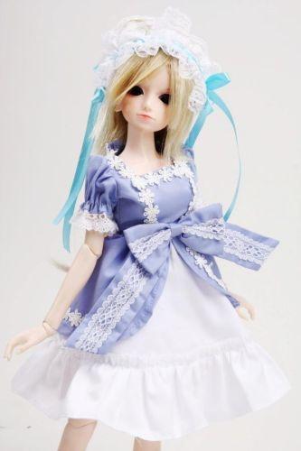 124# Blue Dress/Clothes 1/4 MSD DOD BJD Dollfie
