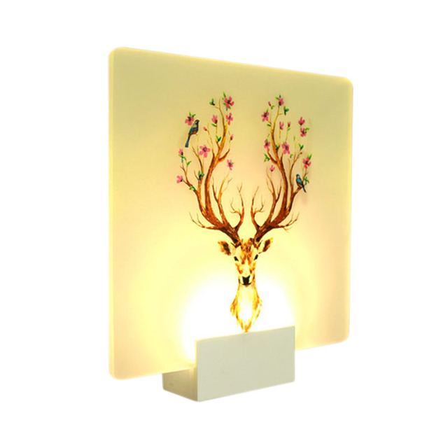 Modern Loveliness Romantic Picture Classic Wall Lamp For Bedside Bedroom Stair Corridor Porch Nordic Home Led Lighting