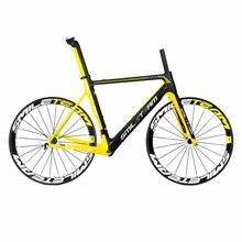 Smileteam Full Carbon Frameset&wheelsets T800 UD Carbon Cycling Framesets 50mm Clincher wheels+Road Carbon Frames complete bike