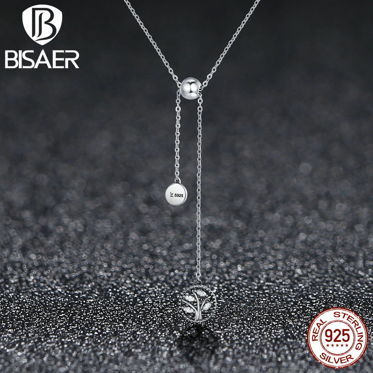 925 Sterling Silver Family Tree Of Life Longer Pendants Necklaces For Women Sterling Silver Jewelry Christmas Gift ECN106