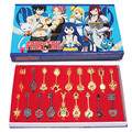 18pcs/set Fairy Tail Key Ring Lucy Ecliptic 12 Palace Constellation Keychain pendant Free Shipping